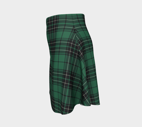 Image of Tartan Flared Skirt - Maclean Hunting Ancient A9