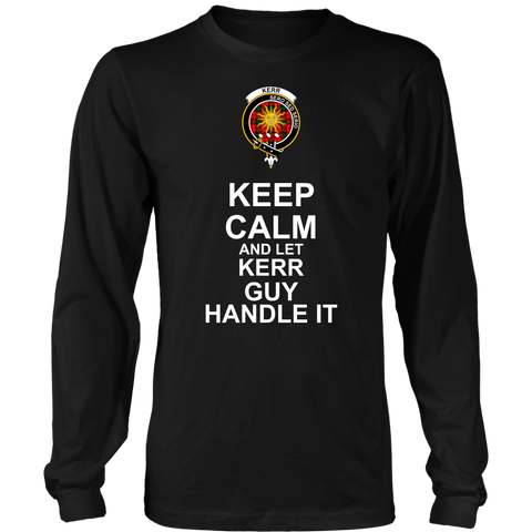 Kerr Tartan Keep Calm Guy T-Shirt K7