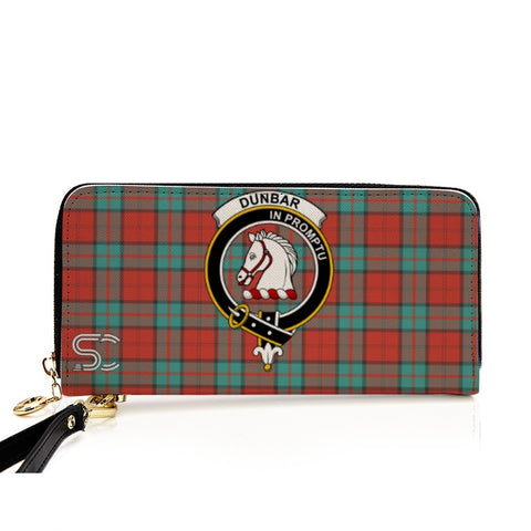 Dunbar Ancient Crest Tartan Zipper Wallet