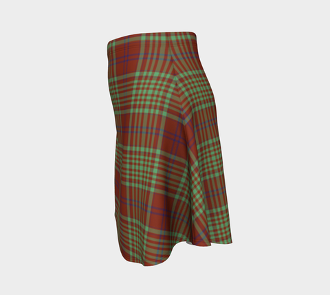 Tartan Flared Skirt - MacGillivray Hunting Ancient A9