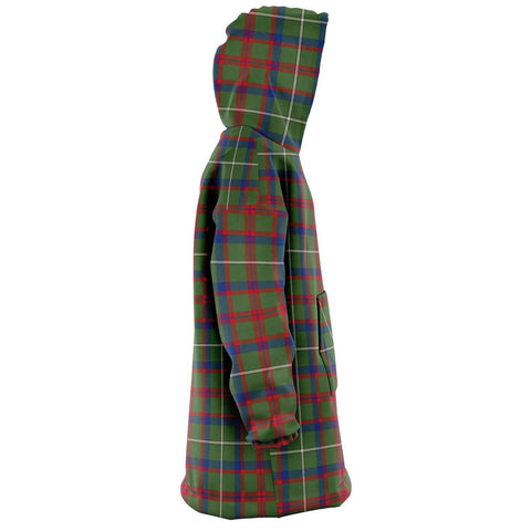 Shaw Green Modern Snug Hoodie - Unisex Tartan Plaid Right