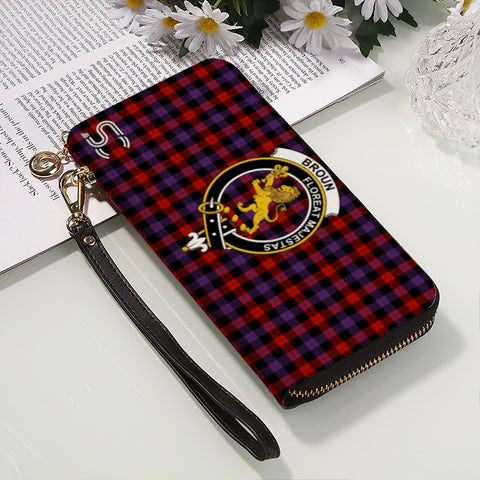 Image of Broun Crest Tartan Zipper Wallet™