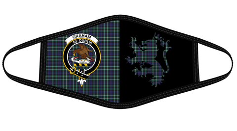 Graham of Montrose Modern Clan Badge Lion Mask Tartan Version 2 K6