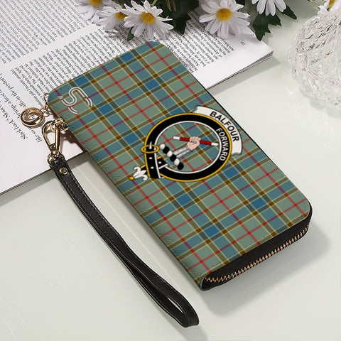 Image of Balfour Blue Crest Tartan Zipper Wallet™