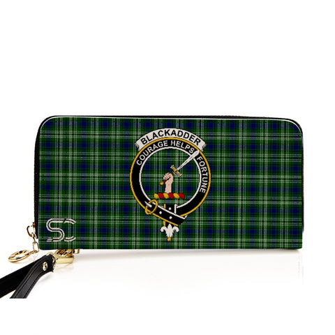 Blackadder Crest Tartan Zipper Wallet