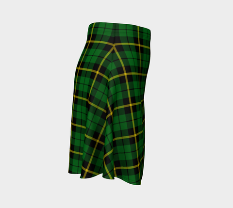 Image of Tartan Flared Skirt - Wallace Hunting Green |Over 500 Tartans | Special Custom Design | Love Scotland