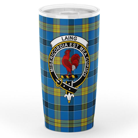 Image of Laing Tartan Tumbler, Scottish Laing Plaid Insulated Tumbler - BN