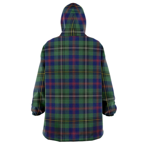 Wood Modern Snug Hoodie - Unisex Tartan Plaid Back