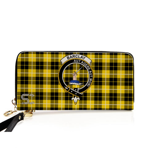 Barclay Dress Modern Crest Tartan Zipper Wallet
