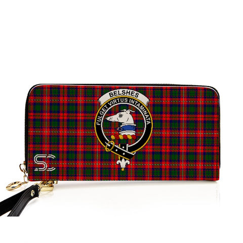 Belshes (Or Belsches) Crest Tartan Zipper Wallet
