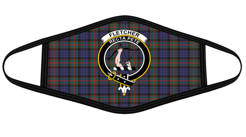 Image of Fletcher of Dunans Clan badge Tartan Mask K7