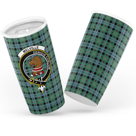 Melville Tartan Tumbler, Scottish Melville Plaid Insulated Tumbler - BN