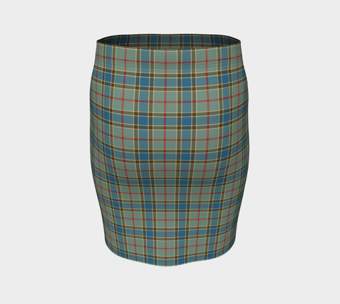Tartan Fitted Skirt - Balfour Blue | Special Custom Design