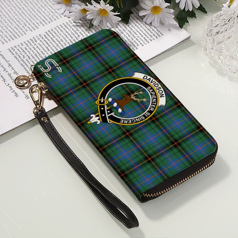 Davidson Ancient Crest Tartan Zipper Wallet™