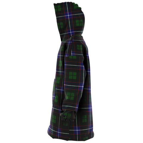 Image of Russell Modern Snug Hoodie - Unisex Tartan Plaid Left