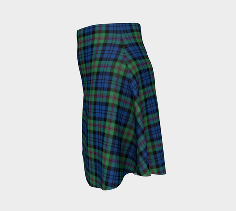 Image of Tartan Flared Skirt - Baird Ancient
