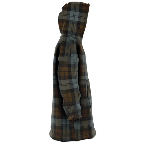 BlackWatch Weathered Snug Hoodie - Unisex Tartan Plaid Right