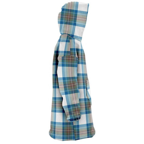 Stewart Muted Blue Snug Hoodie - Unisex Tartan Plaid Right