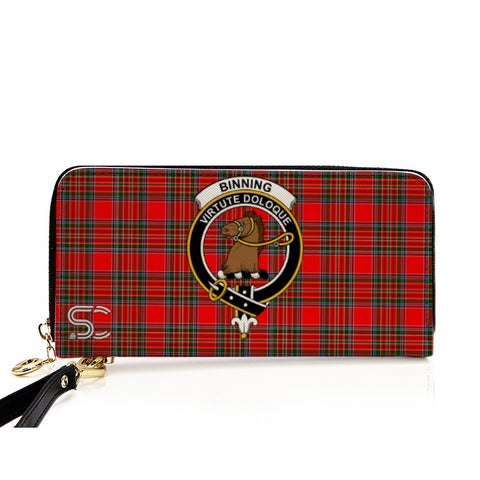 Image of Binning Crest Tartan Zipper Wallet