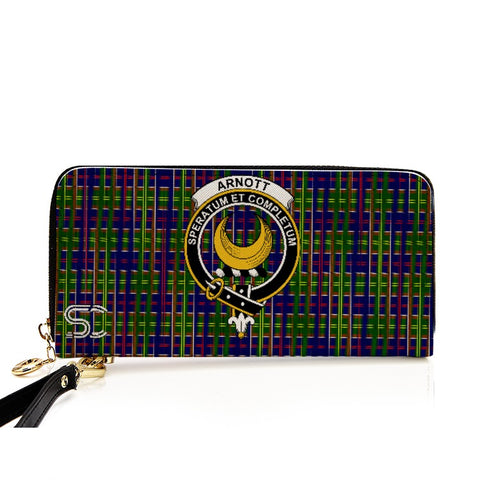 Image of Arnott Crest Tartan Zipper Wallet