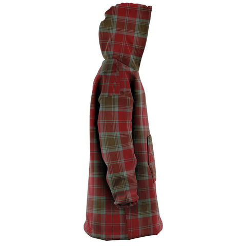 Image of Lindsay Weathered Snug Hoodie - Unisex Tartan Plaid Right