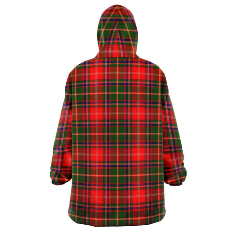 Image of Somerville Modern Snug Hoodie - Unisex Tartan Plaid Back