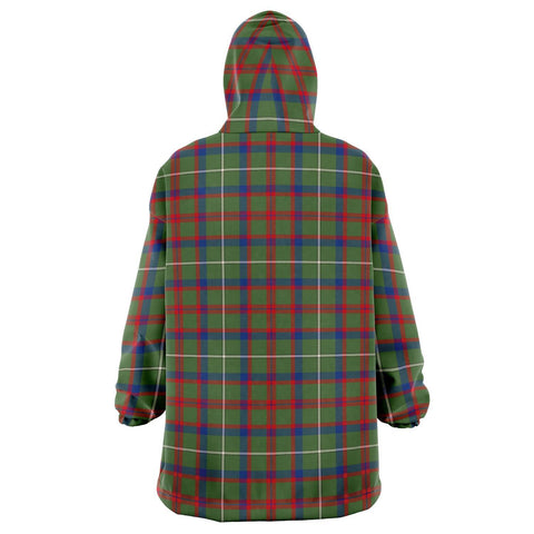 Image of Shaw Green Modern Snug Hoodie - Unisex Tartan Plaid Back