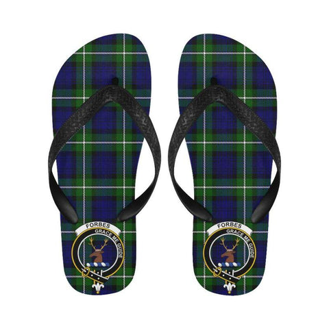 Forbes Modern Tartan Clan Badge Flip Flops For Men/Women | Scottish Clans
