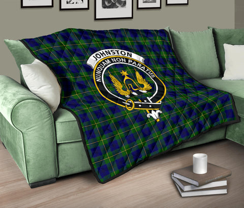 Johnston Modern Tartan Clan Badge Premium Quilt TH8