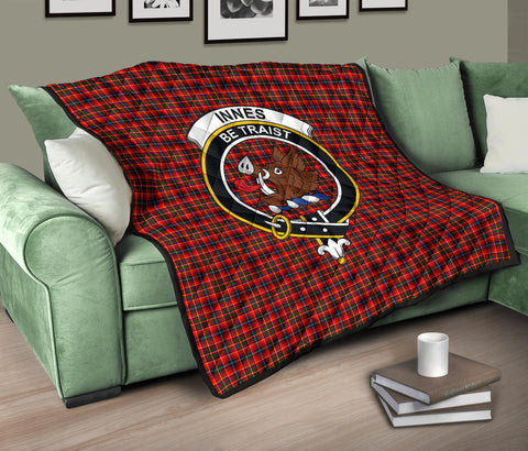Image of Innes Modern Tartan Clan Badge Premium Quilt TH8
