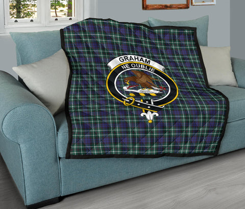 Image of Graham of Montrose Modern Tartan Clan Badge Premium Quilt TH8