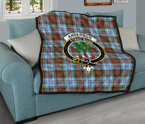 Anderson Ancient Tartan Clan Badge Premium Quilt TH8