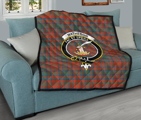 Matheson Ancient Tartan Clan Badge Premium Quilt TH8