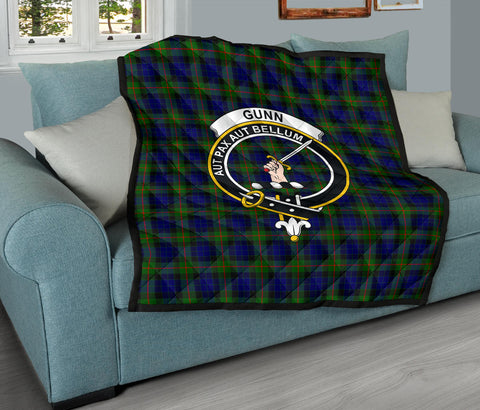 Gunn Modern Tartan Clan Badge Premium Quilt TH8