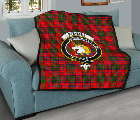 Stewart of Appin Modern Tartan Clan Badge Premium Quilt TH8