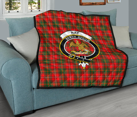 Hay Modern Tartan Clan Badge Premium Quilt TH8