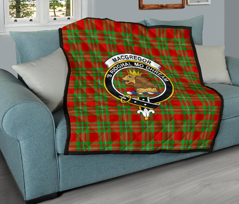 MacGregor Modern Tartan Clan Badge Premium Quilt TH8