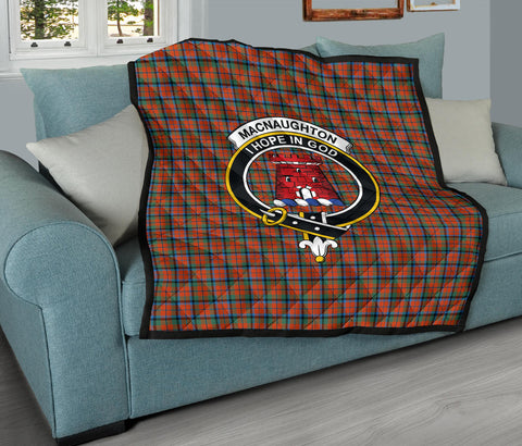 MacNaughton Ancient Tartan Clan Badge Premium Quilt TH8