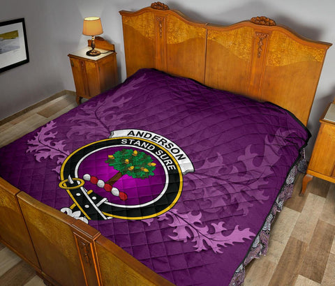 Image of Anderson Ancient Crest Violet Quilt