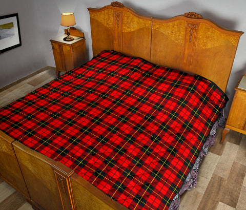 Wallace Hunting - Red Tartan Premium Quilt TH8
