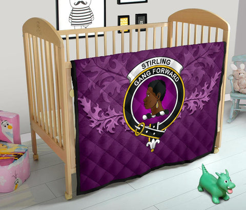 Stirling & Bannockburn District Crest Violet Quilt