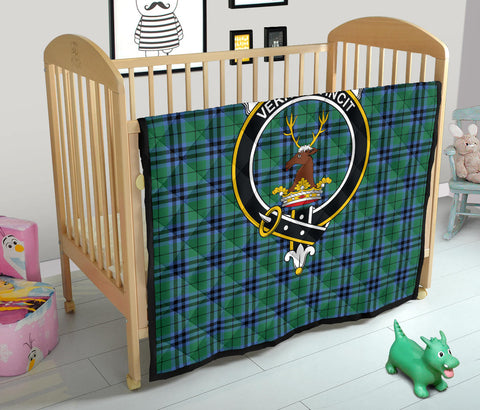 Image of Keith Ancient Tartan Clan Badge Premium Quilt TH8