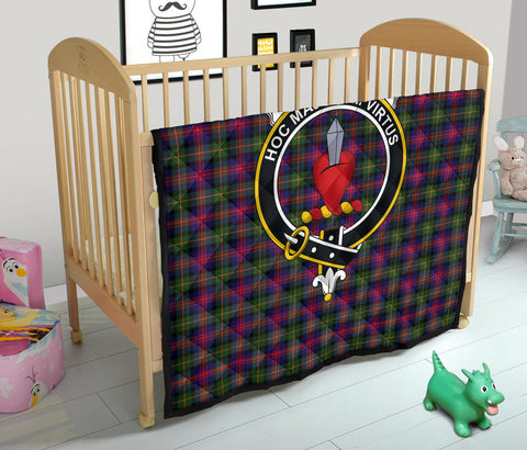 Logan Modern Tartan Clan Badge Premium Quilt TH8