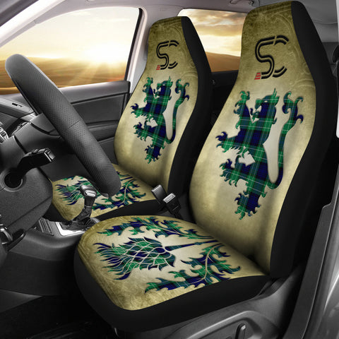 Abercrombie Tartan Car Seat Cover Lion and Thistle Special Style