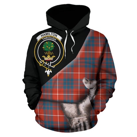 Image of Hamilton Ancient Tartan Clan Crest Hoodie Patronage HJ4