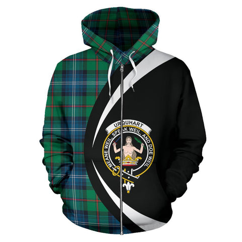 Urquhart Ancient Tartan Circle Zip Hoodie