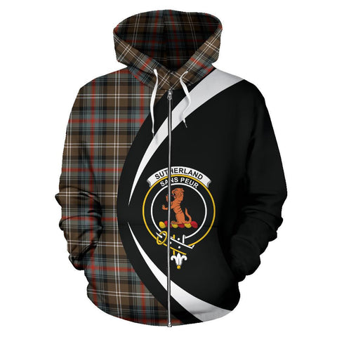 Sutherland Weathered Tartan Circle Zip Hoodie