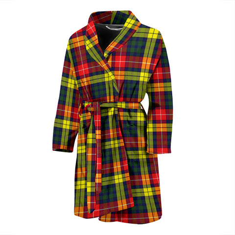 Buchanan Modern Tartan Mens Bathrobe