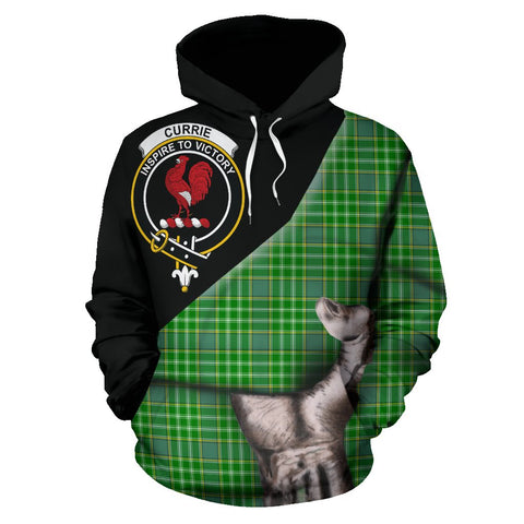 Image of Currie Tartan Clan Crest Hoodie Patronage HJ4