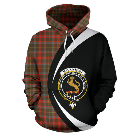 MacKintosh Hunting Weathered Tartan Circle Hoodie